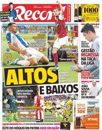 capa Jornal Record de 20 setembro 2019