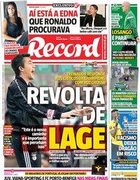 capa Jornal Record de 21 setembro 2019