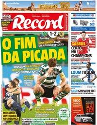 capa Jornal Record de 24 setembro 2019