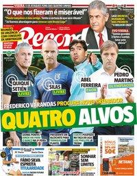 capa Jornal Record de 25 setembro 2019
