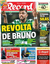 capa Jornal Record de 28 setembro 2019