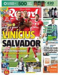 capa Jornal Record de 29 setembro 2019