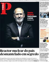 capa Público de 2 setembro 2019