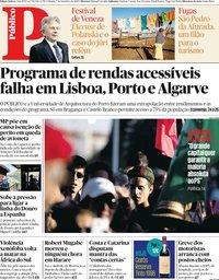 capa Público de 7 setembro 2019