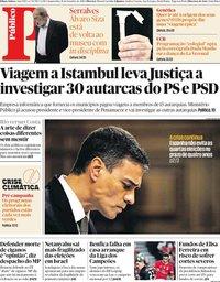 capa Público de 18 setembro 2019