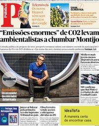 capa Público de 20 setembro 2019