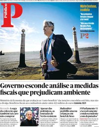 capa Público de 22 setembro 2019