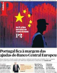 capa Público de 29 setembro 2019