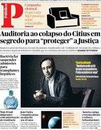 capa Público de 30 setembro 2019