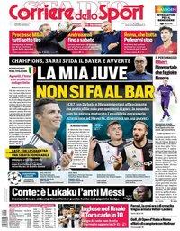 capa Corriere dello Sport de 1 outubro 2019