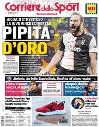 capa Corriere dello Sport de 2 outubro 2019