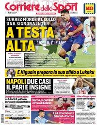 capa Corriere dello Sport de 3 outubro 2019