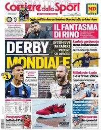 capa Corriere dello Sport de 5 outubro 2019