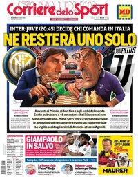 capa Corriere dello Sport de 6 outubro 2019