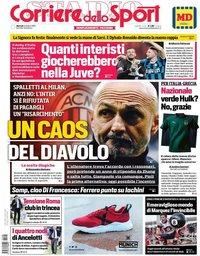 capa Corriere dello Sport de 8 outubro 2019