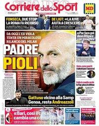 capa Corriere dello Sport de 9 outubro 2019