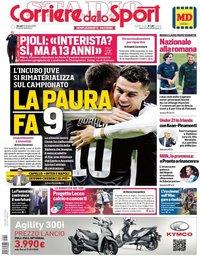 capa Corriere dello Sport de 10 outubro 2019