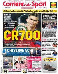 capa Corriere dello Sport de 11 outubro 2019