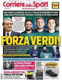 capa Corriere dello Sport de 12 outubro 2019