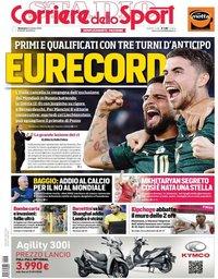capa Corriere dello Sport de 13 outubro 2019