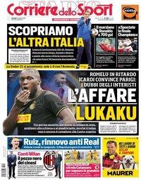 capa Corriere dello Sport de 15 outubro 2019