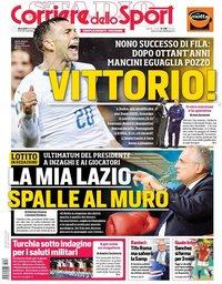capa Corriere dello Sport de 16 outubro 2019