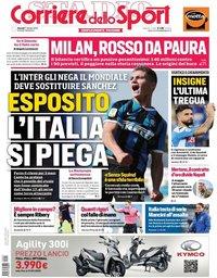 capa Corriere dello Sport de 17 outubro 2019