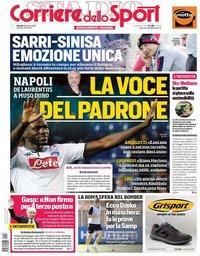 capa Corriere dello Sport de 18 outubro 2019