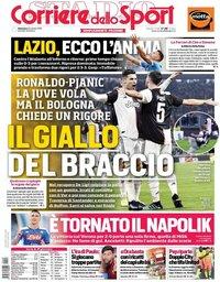 capa Corriere dello Sport de 21 outubro 2019