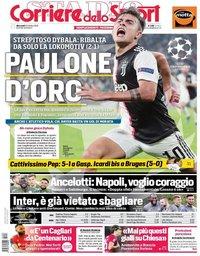 capa Corriere dello Sport de 23 outubro 2019