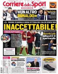 capa Corriere dello Sport de 25 outubro 2019