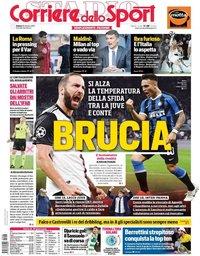 capa Corriere dello Sport de 26 outubro 2019