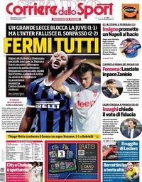 capa Corriere dello Sport de 27 outubro 2019