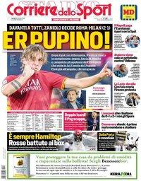 capa Corriere dello Sport de 28 outubro 2019
