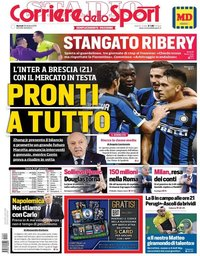 capa Corriere dello Sport de 29 outubro 2019