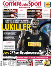 capa Corriere dello Sport de 30 outubro 2019