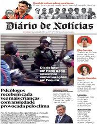 capa Diário de Notícias de 2 outubro 2019