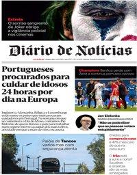 capa Diário de Notícias de 3 outubro 2019