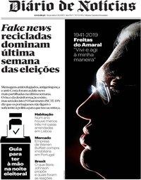 capa Diário de Notícias de 4 outubro 2019