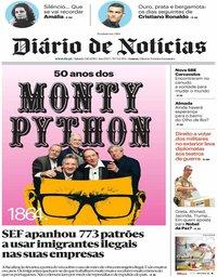 capa Diário de Notícias de 5 outubro 2019