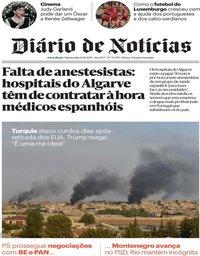 capa Diário de Notícias de 10 outubro 2019