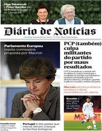 capa Diário de Notícias de 11 outubro 2019