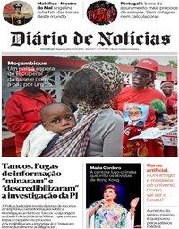 capa Diário de Notícias de 14 outubro 2019