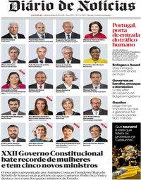 capa Diário de Notícias de 16 outubro 2019