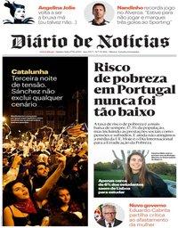 capa Diário de Notícias de 17 outubro 2019