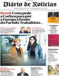 capa Diário de Notícias de 19 outubro 2019