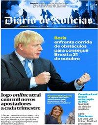 capa Diário de Notícias de 21 outubro 2019
