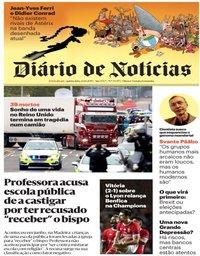 capa Diário de Notícias de 24 outubro 2019
