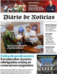 capa Diário de Notícias de 25 outubro 2019