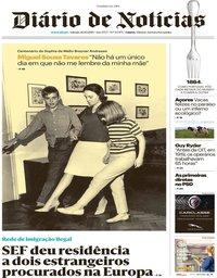 capa Diário de Notícias de 26 outubro 2019